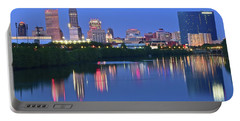 Panoramic Indianapolis Portable Battery Charger by Frozen in Time Fine Art Photography