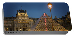 Louvre Museum At Twilight Portable Battery Charger by Juli Scalzi