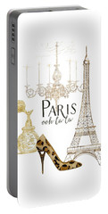 Paris - Ooh La La Fashion Eiffel Tower Chandelier Perfume Bottle Portable Battery Charger