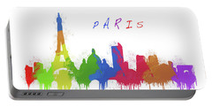 Paris Skyline Portable Battery Charger
