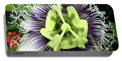 Passion Flower Portable Battery Charger by Mary Ellen Frazee