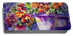 Patio Pansies Portable Battery Charger
