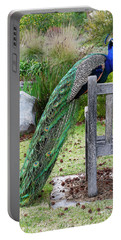 Peacock Portable Battery Charger by Nicholas Burningham