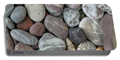 Pebbles In Earth Colors - Stone Pattern Portable Battery Charger by Michal Boubin