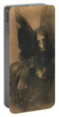 Pegasus And Bellerophon Portable Battery Charger by Odilon Redon