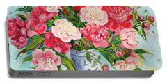 Peonies Portable Battery Charger