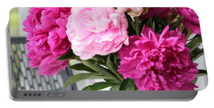 Peonies On The Porch 2 Portable Battery Charger