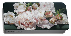Peonies 195 X 114 Cm Portable Battery Charger