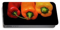 Portable Battery Charger featuring the photograph Peppers Red Yellow Orange by David French