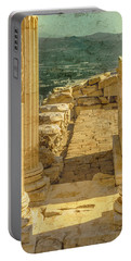 Portable Battery Charger featuring the photograph Pergamon, Turkey - Temple Of Trajan by Mark Forte