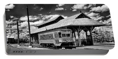 Portable Battery Charger featuring the photograph Philadelphia Trolley by Paul W Faust - Impressions of Light