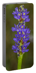 Pickerel Weed Portable Battery Charger by Christopher L Thomley