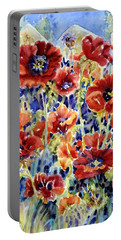 Picket Fence Poppies Portable Battery Charger