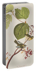 Pine Swamp Warbler Portable Battery Charger by John James Audubon