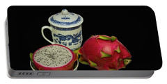 Portable Battery Charger featuring the photograph Pink Dragon Fruit  by David French