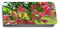 Portable Battery Charger featuring the photograph Pink Flowers by Stephanie Moore