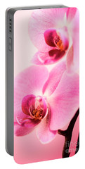 Pink Orchid Closeup Portable Battery Charger