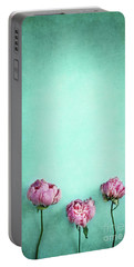 Pink Peonies  Portable Battery Charger