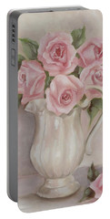 Pitcher Of Roses Portable Battery Charger