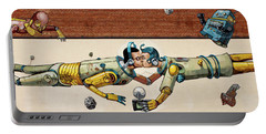 Portable Battery Charger featuring the photograph Pixel Pancho Mural by Jean Haynes
