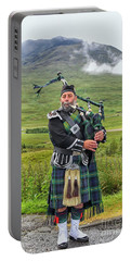 Playing Bagpiper Portable Battery Charger by Patricia Hofmeester