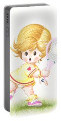 Playing Tennis Portable Battery Charger
