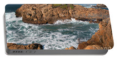 Point Lobos Portable Battery Charger by Glenn Franco Simmons