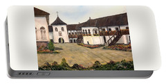 Polovragi Monastery - Romania Portable Battery Charger by Dorothy Maier