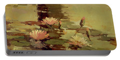 Pond Blossoms - Water Lilies Portable Battery Charger