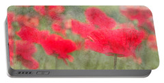 Poppies Portable Battery Charger by Catherine Alfidi