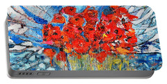 Poppies Portable Battery Charger by Evelina Popilian