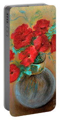 Poppies  Portable Battery Charger by Jasna Dragun