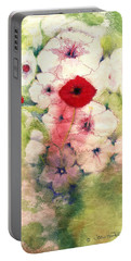 Poppies Portable Battery Charger by Joan Hartenstein