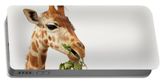 Portrait Of A Rothschild Giraffe  Portable Battery Charger