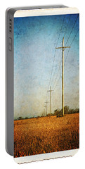 Portable Battery Charger featuring the photograph Power Lines At Sunrise by Lars Lentz