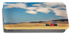 Prairie Red Portable Battery Charger