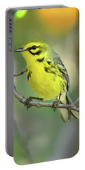Prairie Warbler Portable Battery Charger by Alan Lenk