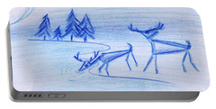 Prehistoric Scenic Portable Battery Charger