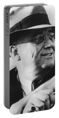 Portable Battery Charger featuring the photograph President Franklin Roosevelt by War Is Hell Store