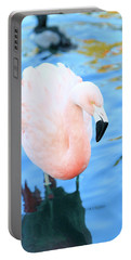Pretty In Pink Portable Battery Charger by Shoal Hollingsworth