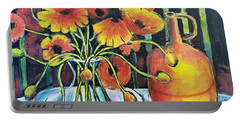 Pretty Poppies Portable Battery Charger