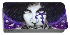 Portable Battery Charger featuring the painting Prince by Darryl Matthews
