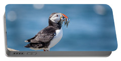 Puffin With Fish For Tea Portable Battery Charger