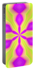 Purple And Green Portable Battery Charger