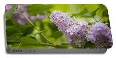 Purple Lilac Portable Battery Charger