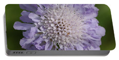 Purple Pincushion Flower Portable Battery Charger
