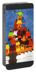 Pyramid Of African Drummers Portable Battery Charger