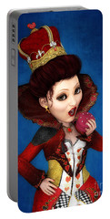 Queen Of Hearts Portrait Portable Battery Charger