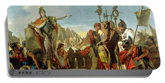 Queen Zenobia Addressing Her Soldiers Portable Battery Charger