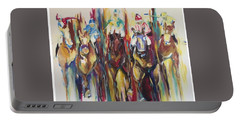 Races Portable Battery Charger by Heather Roddy